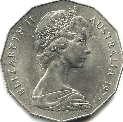 50 Cent 1977 Accession Of Elizabeth Ii Australien Münzen Wert