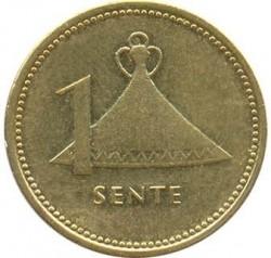 Moneda > 1sente, 1992 - Lesoto  (Acero chapado en latón /magnética/) - reverse