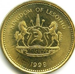 Moneda > 50lisente, 1998-2010 - Lesotho  - obverse
