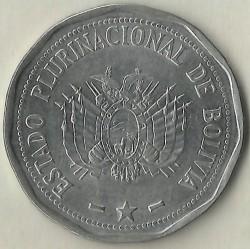 Coin > 2bolivianos, 2010-2017 - Bolivia  - obverse