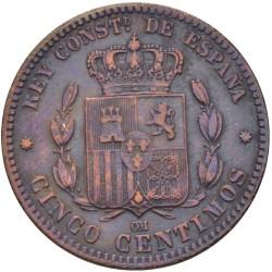 Moneda > 5céntimos, 1877-1879 - España  - reverse