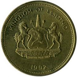 Moneda > 2lisente, 1992 - Lesoto  (Acero chapado en latón /magnética/) - reverse