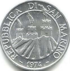 العملة > 1ليرة, 1974 - سان مارينو  - obverse