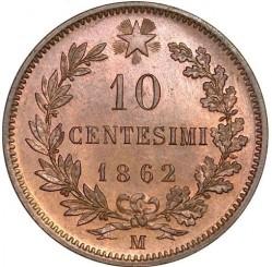 Moneda > 10centesimi, 1862-1867 - Itàlia  - reverse
