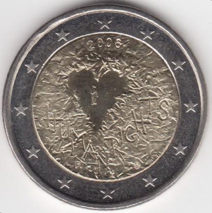 2 Euro 2008 Menschenrechte Finnland Münzen Wert Ucoinnet