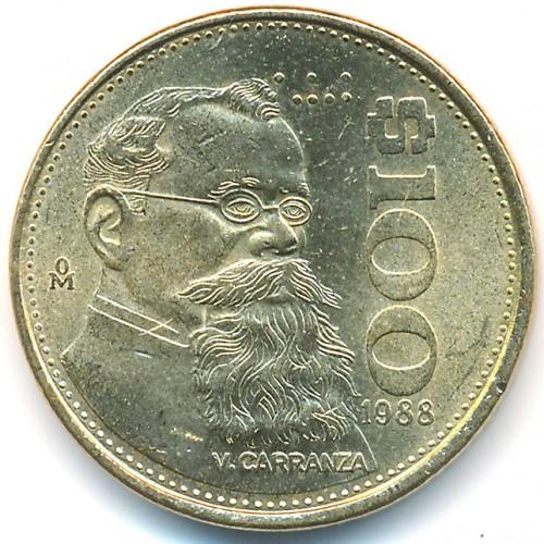100 pesos 1984-1992, Mexico - Coin value - uCoin net