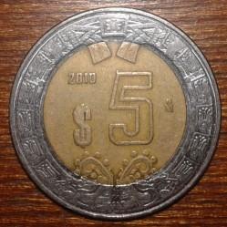 Coin > 5pesos, 2010 - Mexico  - reverse