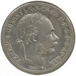Moeda > 1florin, 1882-1890 - Hungria  - obverse