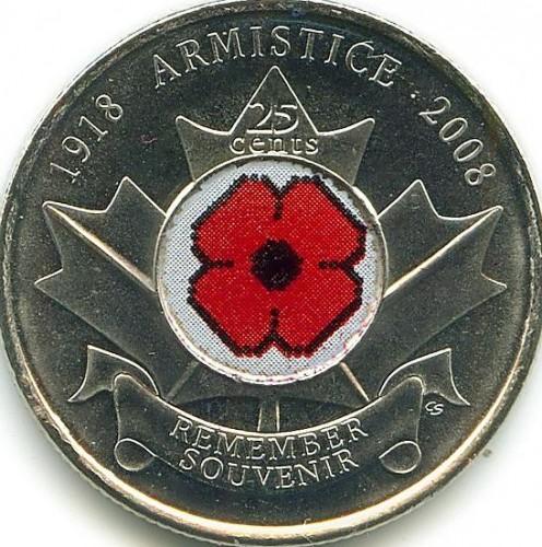 2008 Canada 25 Cents BU