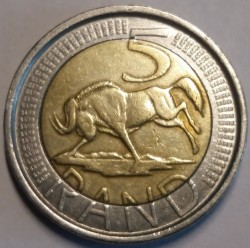 Coin > 5 rand, 2004 - South Africa  - reverse