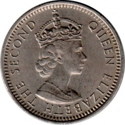 Monēta > 10centu, 1953-1961 - Malaya and British Borneo  - obverse