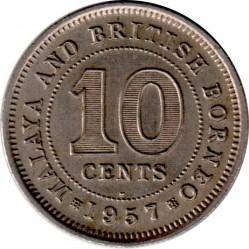 Monēta > 10centu, 1953-1961 - Malaya and British Borneo  - reverse