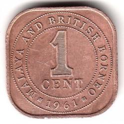 Монета > 1цент, 1956-1961 - Малайя и Британское Борнео  - reverse