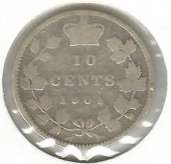 Moneta > 10centų, 1858-1901 - Kanada  - reverse