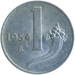 Moneta > 1lir, 1951-2001 - Włochy  - reverse