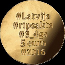Moneta > 5 euro, 2016 - Lettonia  (Golden Brooch) - obverse