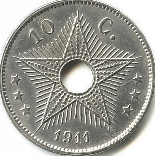 10 Centimes 1910 1928 Belgisch Kongo Münzen Wert Ucoinnet