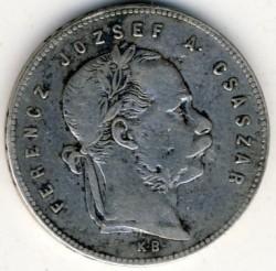Moeda > 1florin, 1868-1869 - Hungria  - obverse