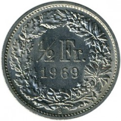 מטבע > ½פרנק, 1968-2017 - שווייץ  - obverse