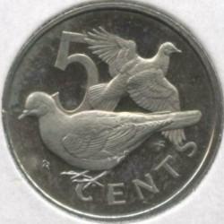 Кованица > 5центи, 1973-1984 - Британска Девичанска Острва  - reverse