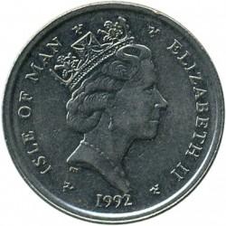 Монета > 10пенсів, 1992-1995 - Острів Мен  - obverse