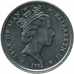 Moneta > 10pence, 1992-1995 - Isola di Man  - obverse