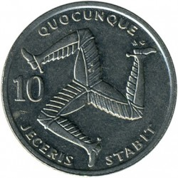 Moneta > 10pence, 1992-1995 - Isola di Man  - reverse