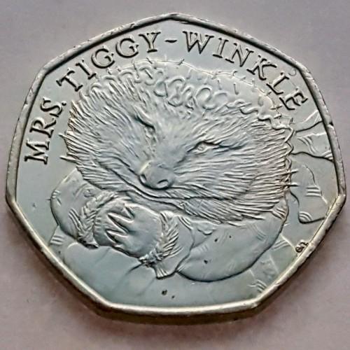 50 Pence 2016 Beatrix Potter Frau Tiggy Wiggel Vereinigtes