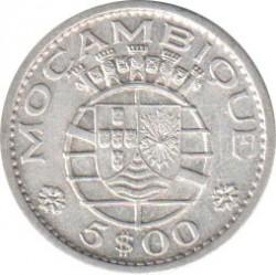 Moneta > 5escudo, 1960 - Mozambik  - obverse