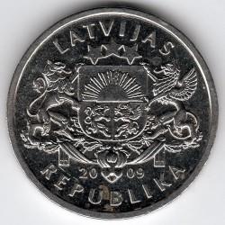 Moneta > 1lats, 2009 - Lettonia  (Albero di Natale) - obverse