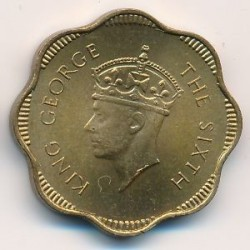 Coin > 10cents, 1951 - Ceylon  - obverse