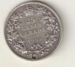 מטבע > 25סנט, 1902-1909 - קנדה  - reverse