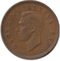 Münze > 1Penny, 1948-1950 - Südafrika   - obverse