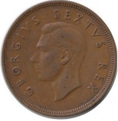 Münze > 1Penny, 1948-1950 - Südafrika   - reverse