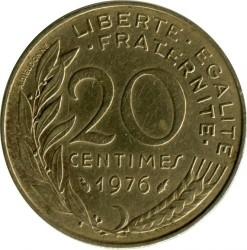 سکه > 20سنتیماس, 1976 - فرانسه  - reverse