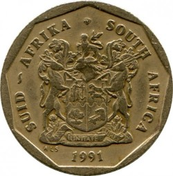 Moneta > 50centų, 1990-1995 - Pietų Afrika  - reverse