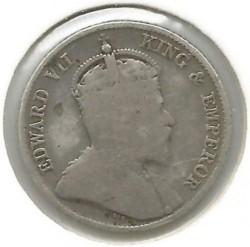 Кованица > 25центи, 1902-1910 - Цејлон  - obverse