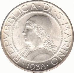 Moneda > 5liras, 1931-1938 - San Marino  - obverse