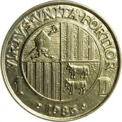 Münze > 1Diner, 1983 - Andorra  - reverse