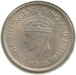 Coin > 50cents, 1942 - Ceylon  - obverse