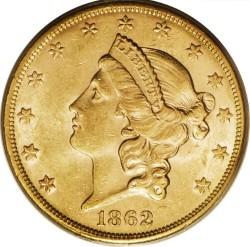20 Dollar 1862 Double Eagle Usa Münzen Wert Ucoinnet