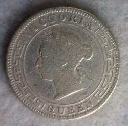 Монета > 50центов, 1892-1900 - Цейлон  - obverse