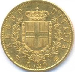 Moneta > 20lirų, 1861-1878 - Italija  - reverse