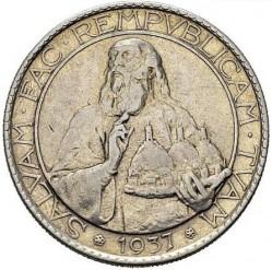 Moneta > 20lirų, 1937-1938 - San Marinas  - reverse