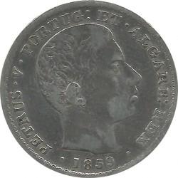 Монета > 500рейса, 1857-1859 - Португалия  - obverse