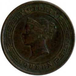 Монета > ½цента, 1870-1901 - Цейлон  - obverse