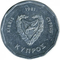 Coin > 5mils, 1981 - Cyprus  - reverse