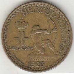 Minca > 2francs, 1926 - Monako  - reverse