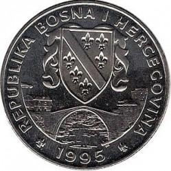 מטבע > 500דינר, 1995 - בוסניה והרצגובינה  (1995 European Youth Summer Olympic Days, Rings) - obverse