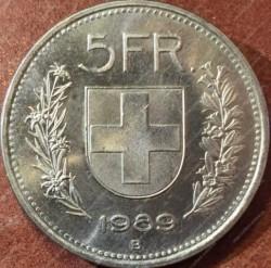 Moneta > 5franków, 1989 - Szwajcaria  - reverse